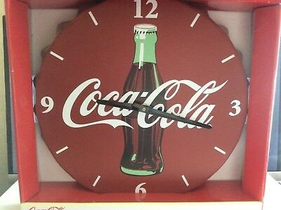 Coca Cola Bottle Cap Battery Operated Wall Clock