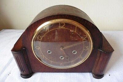 Fine Example Of A Smiths Art Deco Westminster Chiming Mantle Clock ( Working )