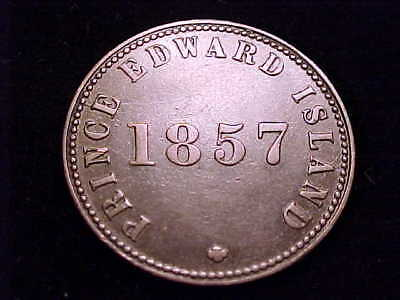 1857 Prince Edward Island copper token, Self Government and Free Trade