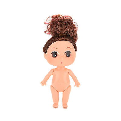 2X Small 9cm Doll for ddung Girl Dolls Charms as Dollhouse Girl Toy With  Bun FO