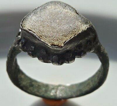 Silver Roman Ring Ancient Jewelry ** Fertility ** White Glass