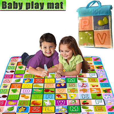 2 Side Kids Baby Crawling Educational Game Play Mat Extra Large Soft Foam Carpet