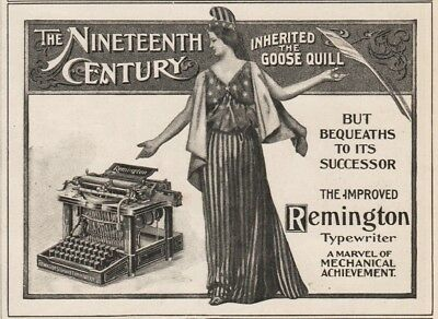 1900 Remington Typewriter  Improved Marvel Of Mechanical Achievement SMALL Ad