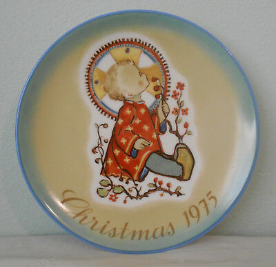 "Hummel ""Christmas Child"" Plate 1975 Schmid Bros W. Germany Excellent"