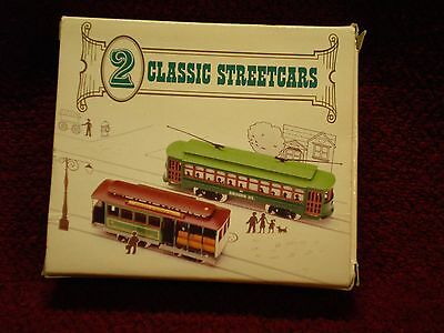 Reader's Digest High Speed Two Classic Streetcars Die-Cast 1999 NIB