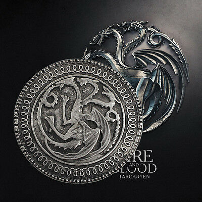 GAMES OF THRONES Dragon Targaryen Badge pin's coin pièce collection Cadeau Gift