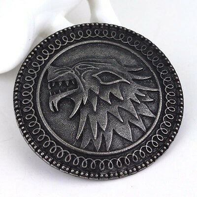 GAMES OF THRONES Stark House Arya Badge pin's coin pièce collection Cadeau Gift