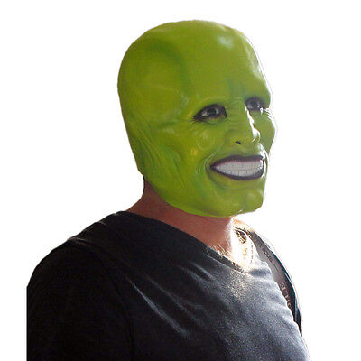 'The Mask' Jim Carrey Latex Mask Movie Le Masque Halloween Party Costume Film