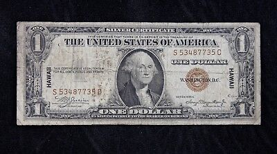 $1 HAWAII 1935A brown seal silver certificate S53487735C one dollar FREE SHIP.