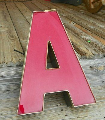 Vintage Retro Industrial Aluminum Marquee Letter A