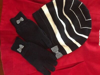 JACADI girls wool blend gloves and hat set 6-8 years old