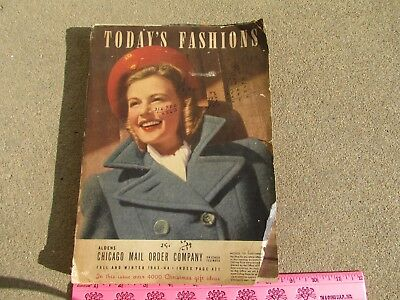 Aldens Chicago Mail Order Catalog, Fall and Winter  1943 - 44 Today's Fashions