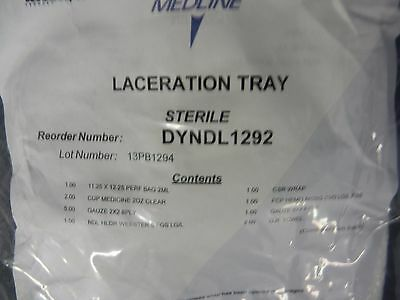 Medline # DYNDL1292 Laceration Tray Sterile with Instruments 1pc