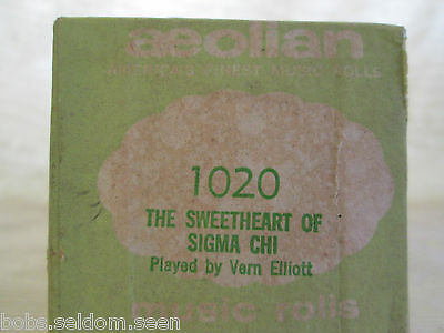 Aeolian Player Piano Roll: The Sweetheart of Sigma Chi   1020.