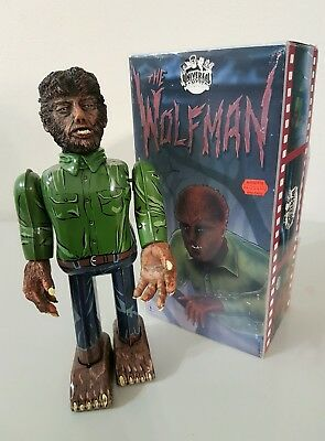 1991 Billiken THE WOLFMAN Vintage Space Toy Tin Robot Made In Japan MIB