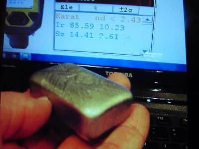 Iridium 9.5 Troy Oz Loaf Bar Rare--- Free Shipping Worldwide