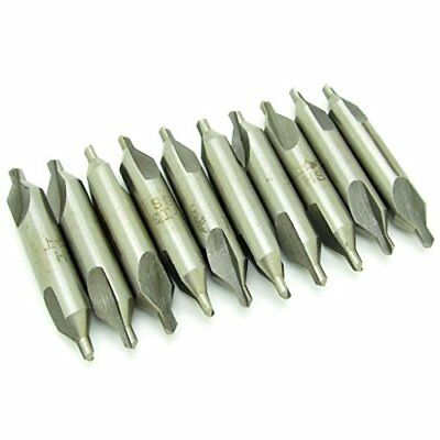 HSS Combined Center Drills Countersinks 60 Degree Angle Bit Set Tool 1.0mm * ...