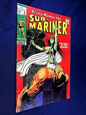 Sub-Mariner #9 (1969 Marvel) 1st appearance of the Serpent Crow NO RESERVE