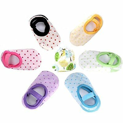 6 Pairs Cute Anti Slip Baby Socks for 8-36 Months Girl Toddler No-Show Crew B...