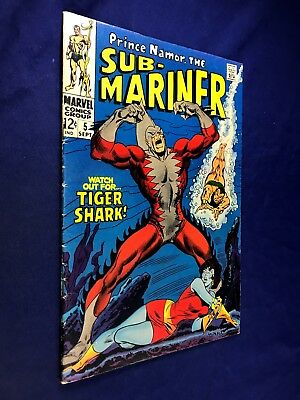 Sub-Mariner #5 (1968 Marvel) 1st appearance of Tiger Shark Silver Age NO RESERVE