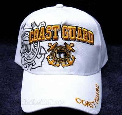 U.S.COAST GUARD VETERAN Cap/Hat WHITE w/ Shadow New Military Free Shipping