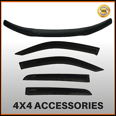 Bonnet Protector & Weathershields for Toyota Hilux 07/2011-2015 Dual Cab