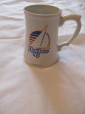 1534 1984 LES GRANDS VOILIERS BEER MUG STEIN PROMO QUEBEC 450th CANADA