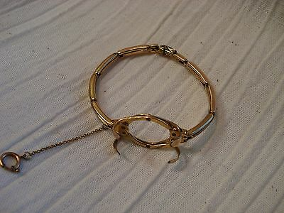 Art Deco Amerikaner gold filled expandable watch holder wrist band bracelet