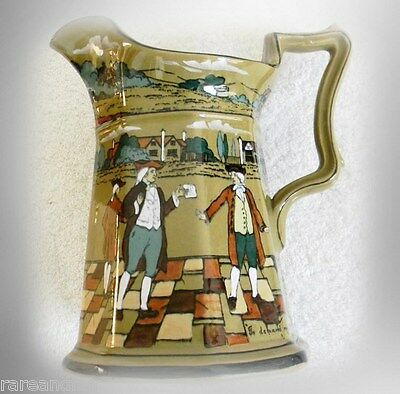Buffalo pottery - vintage Deldare pitcher - town scenes - FREE SHIPPING