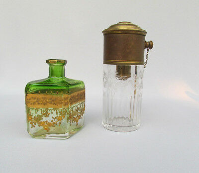 Antique Vintage Czech Moser & French perfume scent bottles