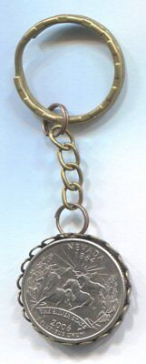 2006 US State Quarter Coin Keyring - NEVADA   #Q55