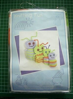 KNIT SIMPLE CREATURES KIT - Yarn, Needles, Stuffing, Eyes & Instructions inc.