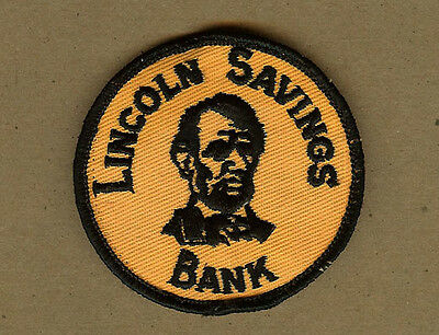 Colorful Vintage Lincoln Savings Bank Patch