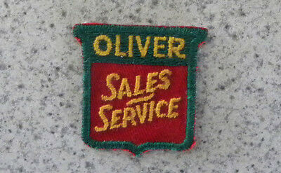 Original Vintage Oliver Sales-Service Farm Tractor, Machinery Advertising PATCH