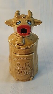 Vtg Japan Mid-Cent pottery Cow Creamer PENNA, DUTCH Country Decor 623