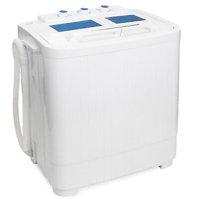 XtremePowerUS 99801 Portable Compact Washer Washing Machine With Built in Dra...