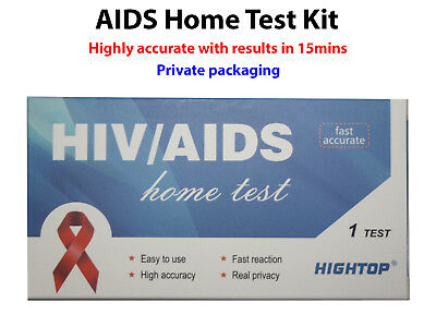 HIV 1/2 AIDS Rapid Self Test Home Blood Kit Private DIY Accurate Positive Health