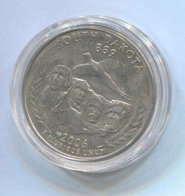 2006 US State Quarter Coin Enclosed in Plastic Case - SOUTH DAKOTA  #Q67