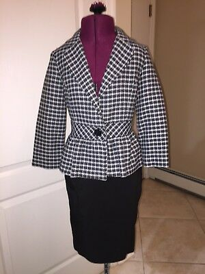 Girls Jacket & Skirt, Size Large Black & White Plaid Jacket by Amy Byer