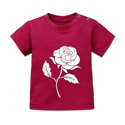 Rose Illustration Baby T-Shirt