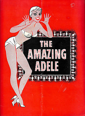 "Tammy Grimes ""THE AMAZING ADELE"" Johnny Desmond / Peggy Cass 1956 FLOP Program"