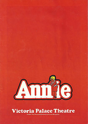 "Andrea McArdle ""ANNIE"" Sheila Hancock / Charles Strouse 1978 London Program"