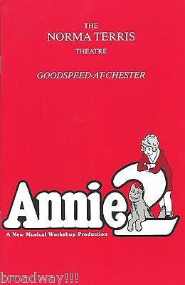 "Charles Strouse ""ANNIE 2"" Helen Gallagher / Musical Workshop 1990 Playbill"