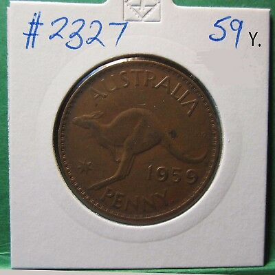 1959 Y. Australia 1d One Penny #2327