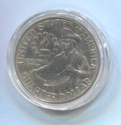 US 200 Years 1776-1976 Quarter Coin Enclosed in Plastic Case - Drummer Boy  #Q93