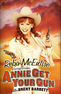 "Reba McEntire ""ANNIE GET YOUR GUN"" Brent Barrett 2001 Broadway Souvenir Program"