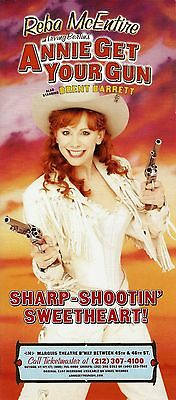 "Reba McEntire ""ANNIE GET YOUR GUN"" Brent Barrett / Irving Berlin 2001 Flyer"