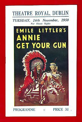 "Joyce Blair ""ANNIE GET YOUR GUN"" Patsy Rowlands 1950 Dublin, Ireland Program"