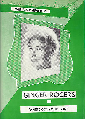 "Ginger Rogers ""ANNIE GET YOUR GUN"" Irving Berlin '62 Program / Playbill / Ticket"