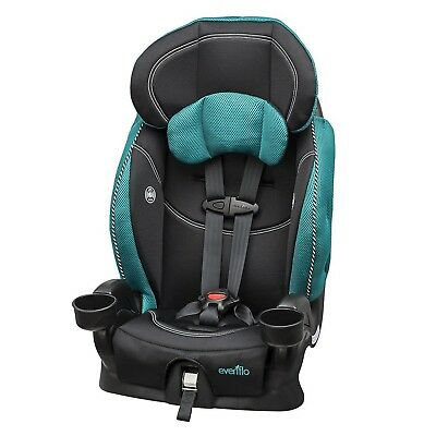 Evenflo Chase LxHarnessed Booster Car Seat Asher teal, black